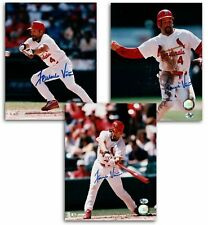 3 Different Fernando Vina Signed 8X10 Photos Autos St. Louis Cardinals Auto COA