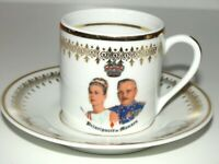 Prince Rainer & Princess/Actress Grace Kelly Monaco Demitasse Tea Cup & Saucer