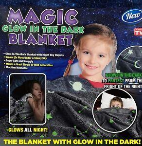 Magic Glow in the Dark Blanket Throw - New - Boy or Girl - Super Cool !!!