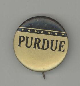1940s PURDUE University FOOTBALL Pinback PIN Button BADGE Basketball SPORTS