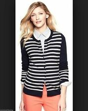 NWT $54 Gap Navy Blue White Striped Wool Blend Cardigan Sweater Sequins S Small