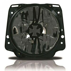 For VW Golf MK2 2 Iron Cross Crystal Clear Black Headlight Head Light GTI 83-92