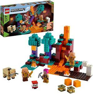 LEGO MINECRAFT 21168 THE WARPED FOREST Nether Playset + Huntress Hoglin Piglins