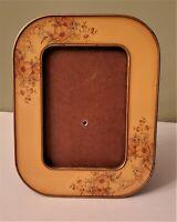 "Vintage BUCKLERS Hand Crafted Floral Enamel Picture Frame 3"" x 4-1/4"""
