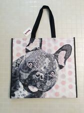 NEW TJ Maxx Large Shopping Tote Bag ~ Pit Bull Puppy Dog ~ Reusable Eco Friendly