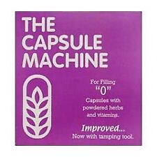 """0"" THE CAPSULE MACHINE Filling Filler POWDER HERBS VITAMINS PILLS MEDICATION"