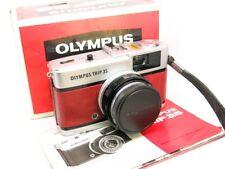 Olympus Trip 35 (1979) REFURB/SERVICED Red Leather GOOD COND BOX/UV/CAP/MANUAL