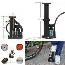 Mini Bicycle Motorcycle Wheel Tyre Tire Air Pump Pedal Inflator Pressure gauge