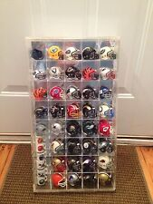 VINTAGE SPORTS DISPLAY SHOWCASE NFL COMES WITH MINI FOOTBALL HELMETS RIDDELL WOW