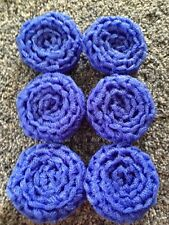 6 Blue -  NYLON NET POT SCRUBBIES