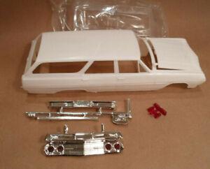 65 1965 Chevelle Station Wagon 1/25 Hood Body Glass Chrome Bumper Model Car Part