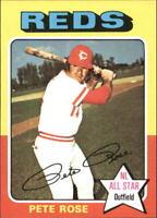1975 Topps Mini Baseball Card #320 Pete Rose - NM-MT