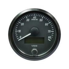 VDO SingleViu Tachometer Gauge 8.000 RPM Black 80mm-3 1/8' A2C3833020001