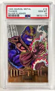 1995 Marvel Metal Thanos Silver Flasher SP #19 PSA 10 GEM MINT POP 1