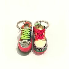 3D mini sneaker Keychain Dunk Low Pro SB WHAT THE DUNK nike REAL LACES 01-60