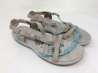 New w/defect Women's Skechers 40955 Reggae Slim Vacay Strappy Sandal Taupe B45