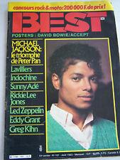 MAGAZINE BEST . MUSIQUE POP , ROCK , BLUES , ETC  N° 181. 1983 .