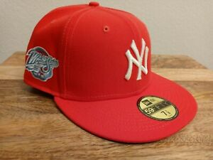 New Era New York Yankees Infrared Icey bottom Fitted Jae 98 WS Side Patch 7 1/8