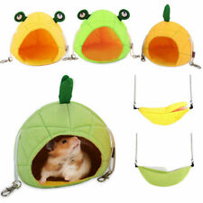 Pet Bird Hamster Ferret Rats Squirrel Hammock Hanging Cage Beds Nest House F1E1