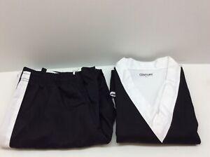 Century Team Martial Arts Uniform Black Adult Size 4 Medium Black White