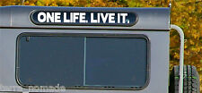 2 x ONE LIFE LIVE IT, STICKER,  LAND ROVER Defender Alpine Window, Decal, Camel
