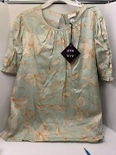 AVA VIV Women Blouse Size 2X New Regular 24.99. Free Shipping