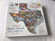 "1000 Piece Shaped Puzzle. ""Welcome to Texas"""