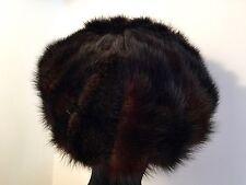 """VINTAGE Vera Pelliccia Cappello 19 """"Rilucente Dk Brown Mink-Custom Made"""