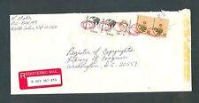 PAIR #1611 + PAIR #1844 + #1869 $4.52 1985 Americana Registered Return Receipt