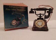 antique finish zinc alloy pencil sharpener telephone