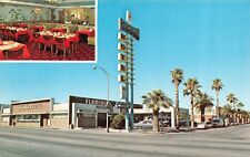 TUSCON, AZ Arizona  FLAMINGO MOTOR HOTEL~Restaurant ROADSIDE Chrome Postcard
