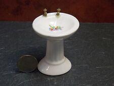 Dollhouse Miniature Ceramic Sink Floral basin 1:12 inch scale G52 Dollys Gallery