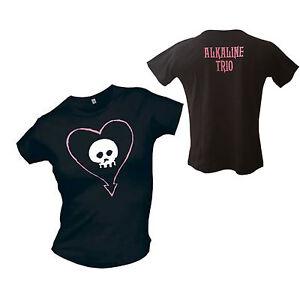 Alkaline Trio - Heart Skull Girlie Shirt schwarz