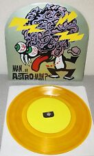 "MAN OR ASTROMAN World Out Of Mind NEW 1995 GOLD Vinyl 7"" Estrus ES769 Surf Rock"