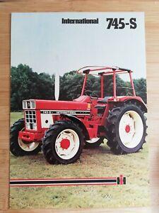 Orig. Schlepper Prospekt IHC Mc Cormick International 745 S IH Traktor