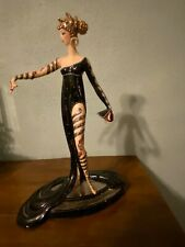 House of Erte porelain figurine pearls and rubies by Franklin Mint