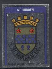 Panini Football 1987 Sticker - No 557 - St Mirren Foil Badge (S872)
