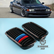 For BMW 7-Series E38 Saloon Black Gloss Kidney Sport Front Grill M-Color 1998-01