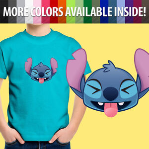 Toddler Kids Tee Youth T-Shirt Gift Printed Lilo Stitch Funny Face Smile Laugh