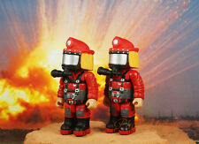 Mighty World Emergrency Fire Brigade Fireman Fighter Rescue Cake Topper Figure 2