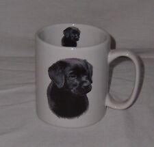 Black Labrador Retriever Puppy White Coffee Cup Mug Canine Lab Collectible