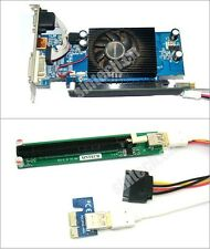 PCI-e express 1X to 16x Riser Card+SATA power+30CM USB 3.0 Cable 4 bitcoin miner