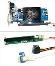 PCI-e express 1X to 16x Riser Card+SATA power+30CM USB 3.0 Cable 4 bitcoin miner