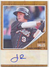 JUSTIN DALLES 2011 TOPPS HERITAGE MINOR LEAGUE CERTIFIED AUTOGRAPH ISSUE #/861