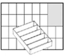 NEW! RAACO A75 POCKET BOX 5 SECTION INSERT  EAN 115759