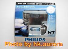 Genuine Philips Blue Vision Ultra H7 4000K headlight bulb 12972 BVU light beam