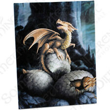 Fantasy Gothic Art Canvas Wall Plaque~Golden Treasure~by Anne Stokes~17~uk sell
