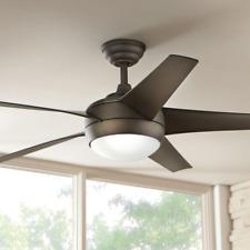 """5-Blade 52"""" Ceiling Fan + Remote Oil Rubbed Bronze Globe Light Office Loft Den"""