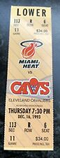1993-94 MIAMI HEAT VS CLEVELAND CAVALIERS NBA BASKETBALL FULL TICKET STUB