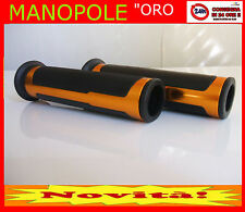 MANOPOLE 22 25mm universali x moto gomma + alluminio 1 coppia ORO ANODIZZATO